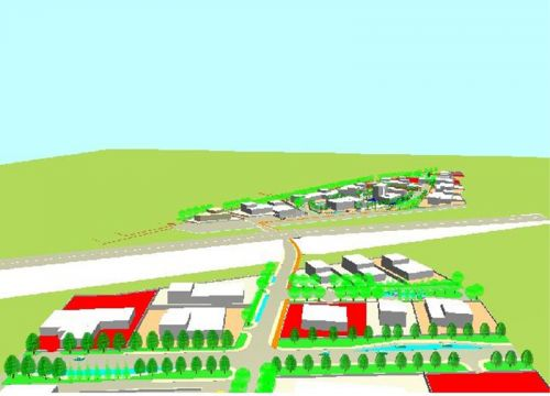 Plan for industrial sites in Casamarciano